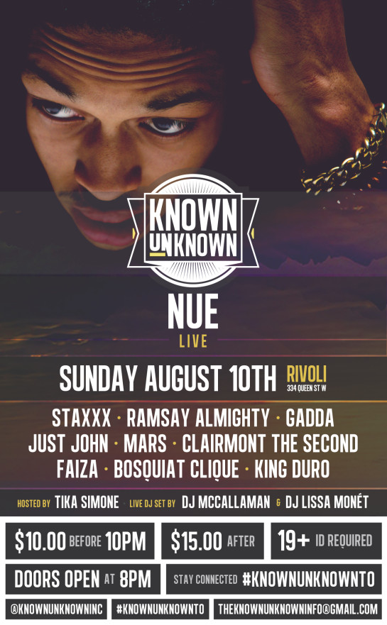 Known Unknown Aug.10th Flyer