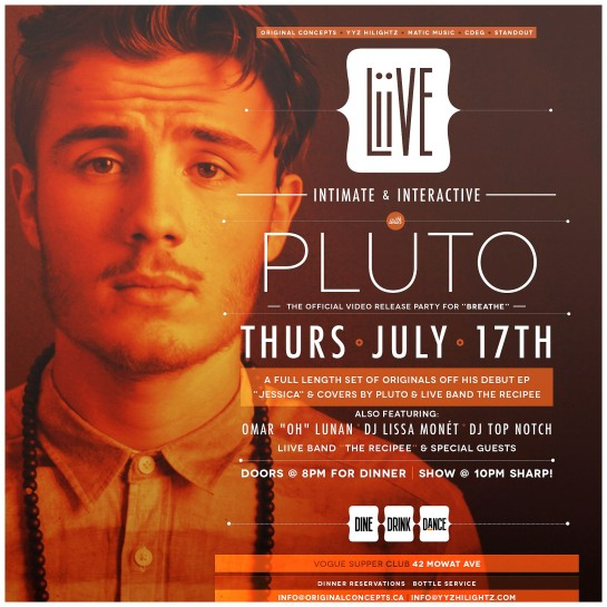 Pluto Liive July 17th Vogue Flyer