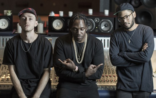 River Tiber,   Kaytranada and Pusha T pose for a portrait at the Red Bull Studio Los Angeles, in Santa Monica, CA, USA on 22 November 2015.